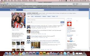 Fan page de Facebook de Larissa Riquelme